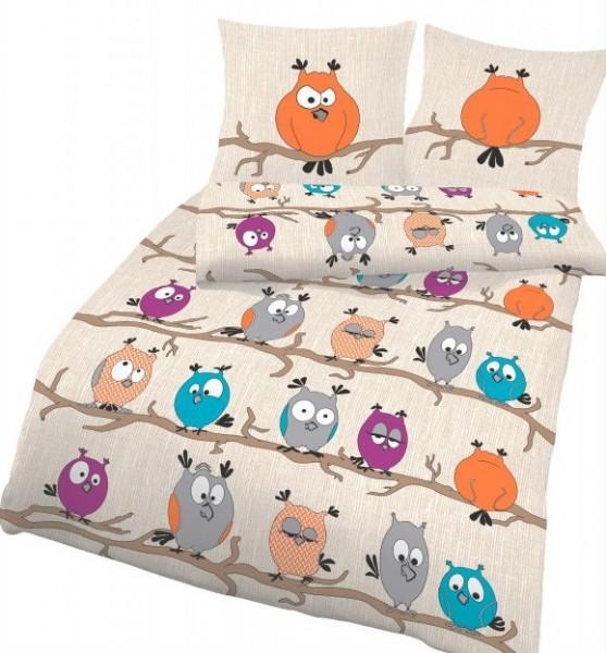 Ido / Nici Renforcé Kinder- und Jugend Bettwäsche Crazy Owl