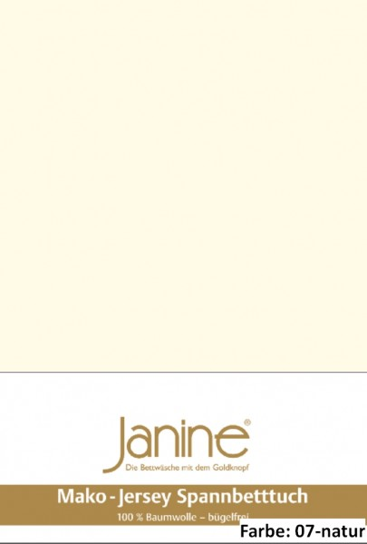 Janine Spannbettlaken JERSEY 5007, Uni-Mako-Jersey