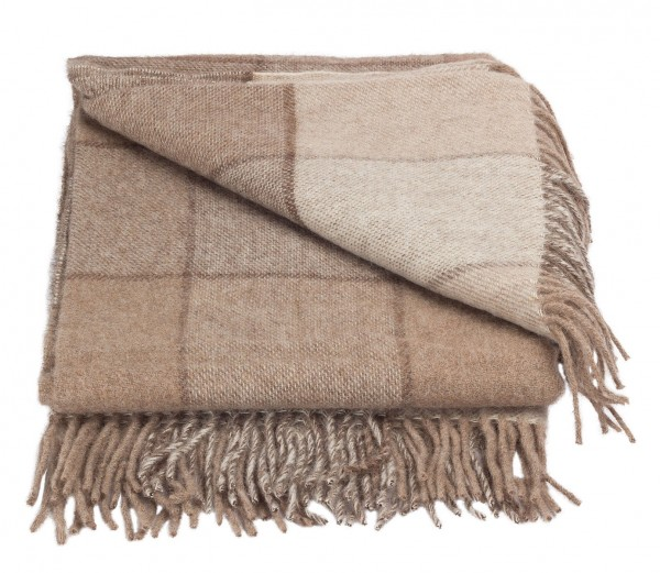 Forster Plaids Wohndecke ISABELL, 50% Wolle, 50% Alpaca