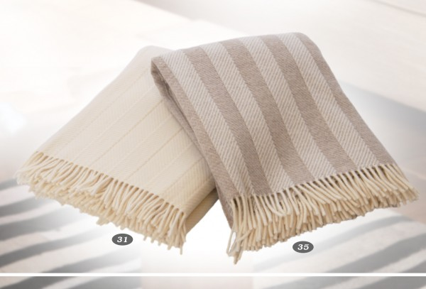 Forster Plaids Wohndecke OSLO, 100% Lambswool