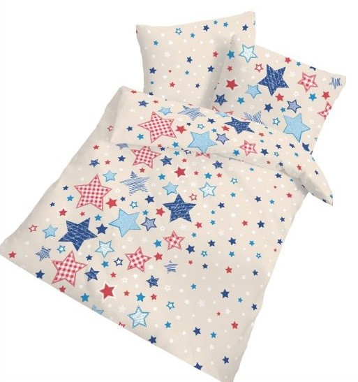 Ido Feinbiber Kinderbettwasche Babybettwasche Mit Sternenmotiv Aus