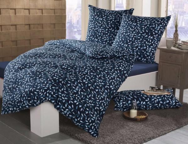 Sternenzelt Bettwäsche MILA, Fb. 02 blau, Mako-Satin