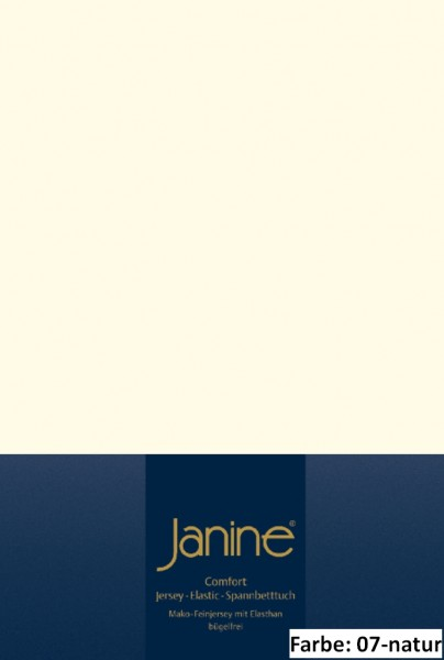Janine Topper Spannbettlaken ELASTIC 5001, Uni-Elastic-Jersey